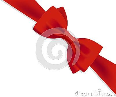 Roter Bogen des Geschenks