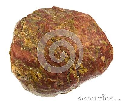 Roter Felsen mit gelben Eindringen