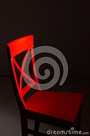 Roter Holzstuhl Stockbilder - Bild: 31417414