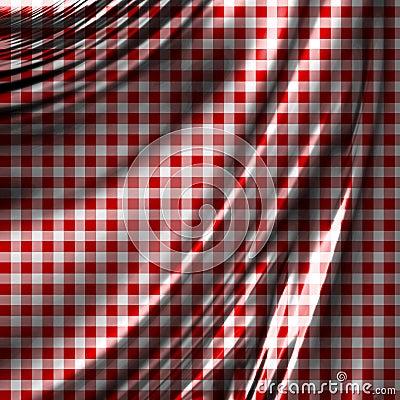 Roter Picknickstoff