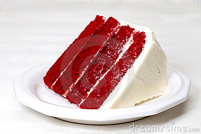 Roter Samt-Kuchen Stockfotos - Bild: 20947043