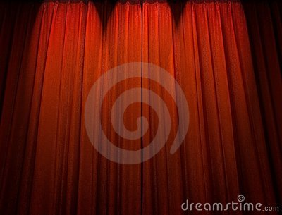 Roter Theatertrennvorhang