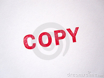 Roter zugelassener Exemplar-Stempel