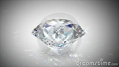 Rotering och glänsande diamant