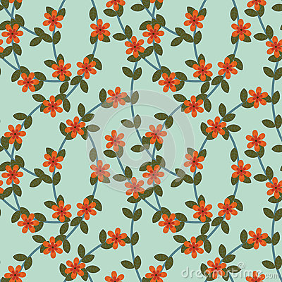 Rotes Blumenmuster