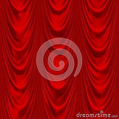 Rotes Drapierung