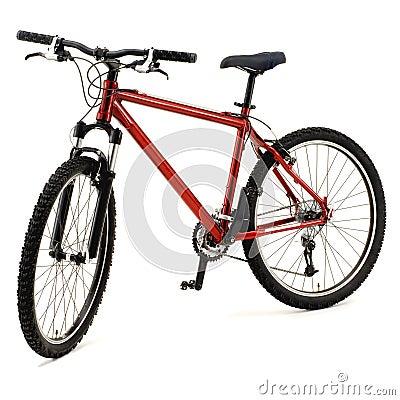 Rotes fahrrad stockbilder bild 20324844
