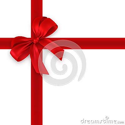 Rotes Geschenk, Farbband, Bogen