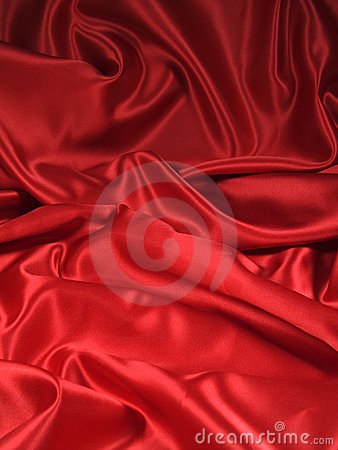 Rotes Satin-Gewebe [Portrait]