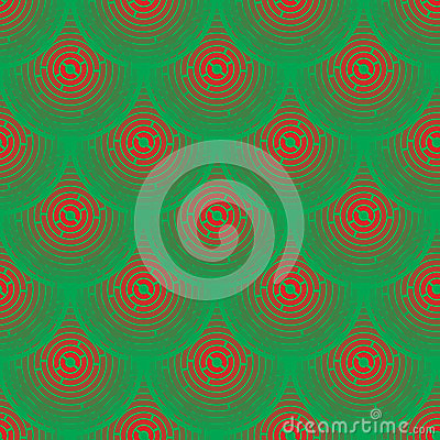 Rotes und grünes schuppenartiges des Vektormusters -