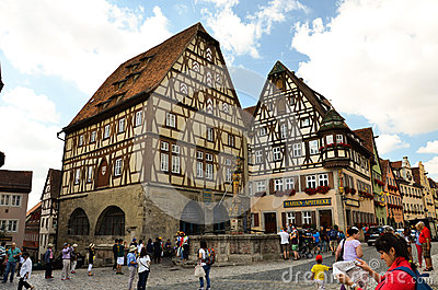Rothenburg Ob Der Tauber, Exhibit Building  Art Stock Photo - Image: 28015890