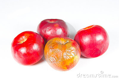 Always a rotten apple in the bunch Stock Photo