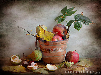 Rotten apples and chestnuts