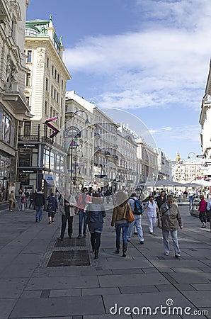 Rottenturm Street in Vienna, Austria Editorial Photography