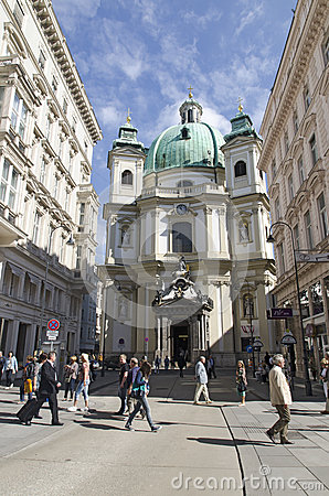 Rottenturm Street in Vienna, Austria Editorial Photo