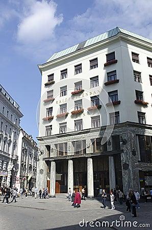 Rottenturm Street in Vienna, Austria Editorial Stock Photo