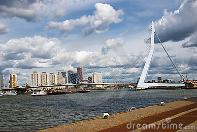 Rotterdam Bridge Editorial Photo