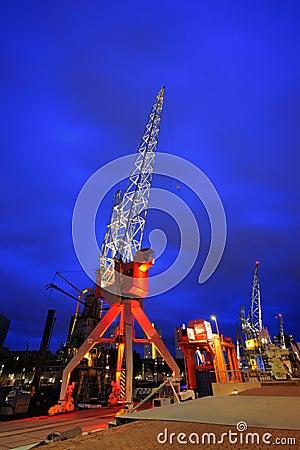 Rotterdam dock cranes