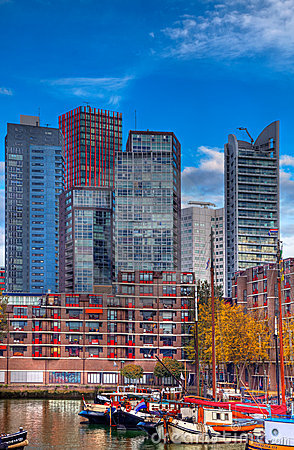 Rotterdam linia horyzontu Zdjęcie Editorial