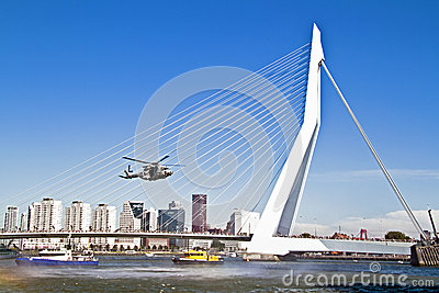 ROTTERDAM, NETHERLANDS - SEPTEMBER 09: Demonstration of a rescue Editorial Photo