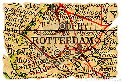 Rotterdam old map
