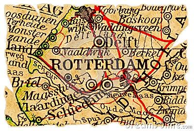 Rotterdam old map