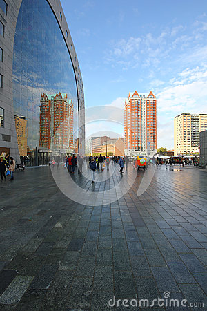 Free Rotterdam Reflection Modern Architecture Buildings Stock Images - 58335874