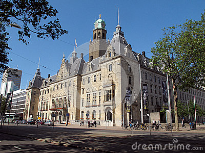 Rotterdam s City Hall, Netherlands  Editorial Stock Image