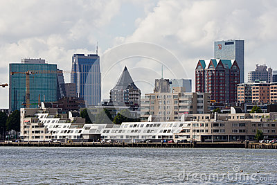 Rotterdam Skyline Editorial Stock Photo