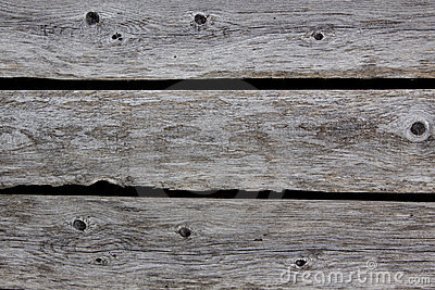 Rotting wooden fence