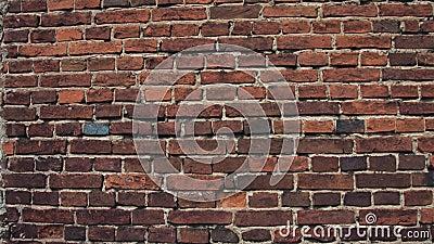 Rottura del muro di mattoni rosso stock footage