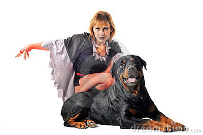 Rottweiler and witch