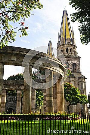 Rotunda of Jalisciences and Guadalajara Cathedral