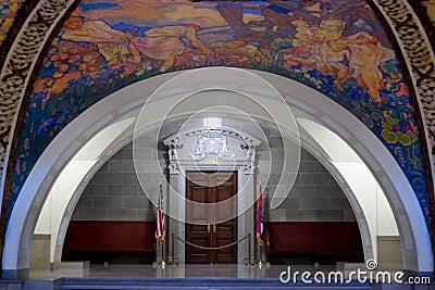 Rotunda Mural in Missouri State Capital Editorial Stock Photo