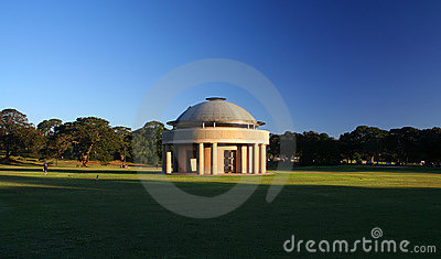 Rotunda in a park