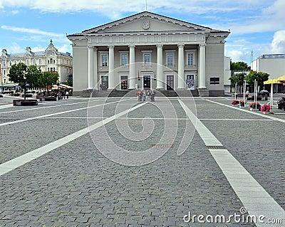 Rotuse in Vilnius Editorial Stock Image