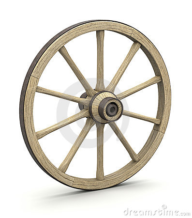 roue en bois photos libres de droits image 23955448. Black Bedroom Furniture Sets. Home Design Ideas