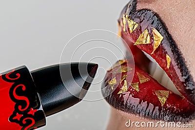 Rouge à lievres avec la languette