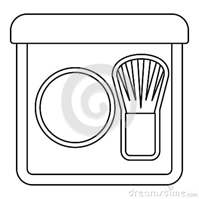 Free Rouge With Brush Icon, Outline Style Royalty Free Stock Photos - 79266878