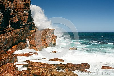 Rough coast of the Cape of Good Hope, South Africa