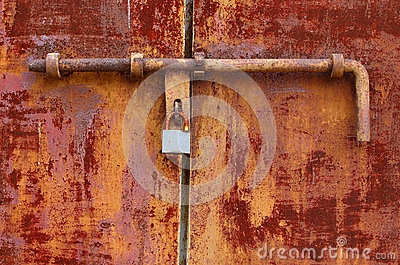Rough door with lock