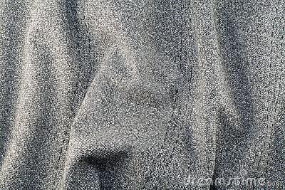 Rough gray cotton fabric texture