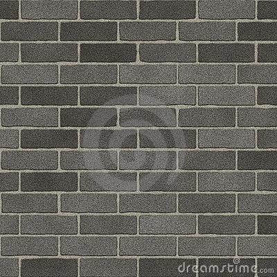 Rough Grey Brick Wall