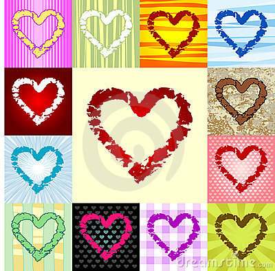 Rough heart pattern