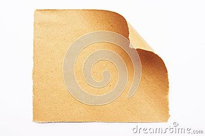 Rough paper curl