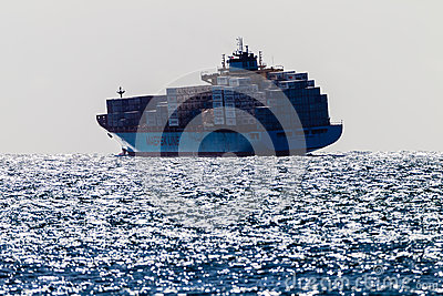 Rough Sea Ship Containers Editorial Stock Photo