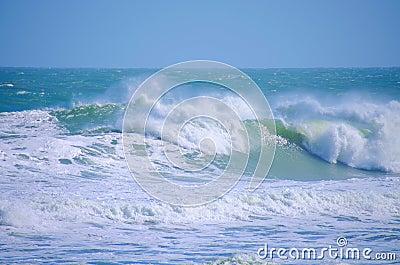 Rough seas big ocean waves