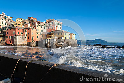 Rough seas in Boccadasse