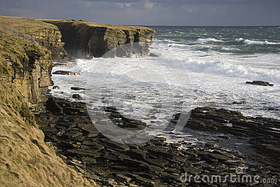 Rough Sea - Brough Head - Scotland