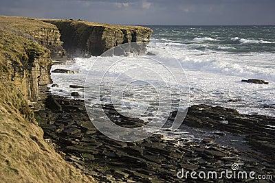 Rough Sea - Brough Head - Scotland